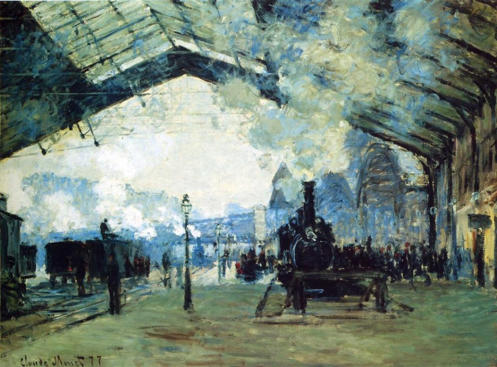 Saint-Lazare Station by Claude Monet