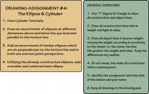 DVD Drawing Assignment #4: The Ellipse & Cylinder