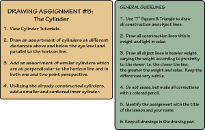 DVD Drawing Assignment #5: The Cylinder