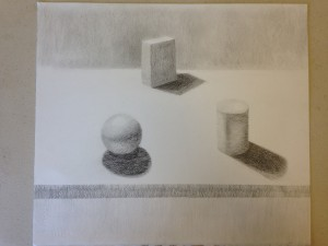 Pencil rendering of geometric forms (3)