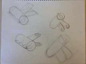 Four clip drawings