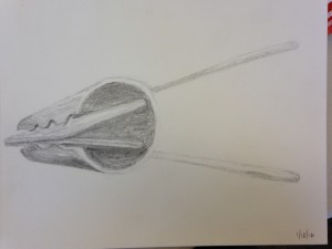 Pencil rendering of clip
