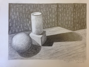 Pencil rendering of geometric forms (2)