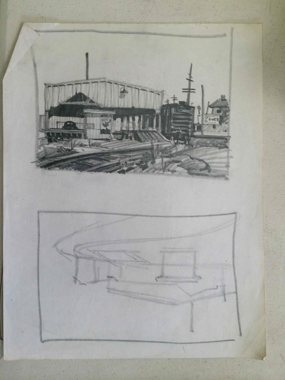 Architecture Drawing Class advanced drawing and composition 2016 week 7 | dick nelson color
