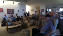 Gathering in the living room for our final critique