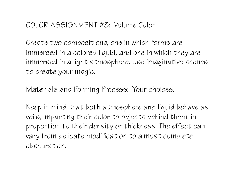 volume color assignment